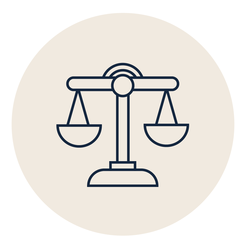 ERB Legal excellence ivory icon