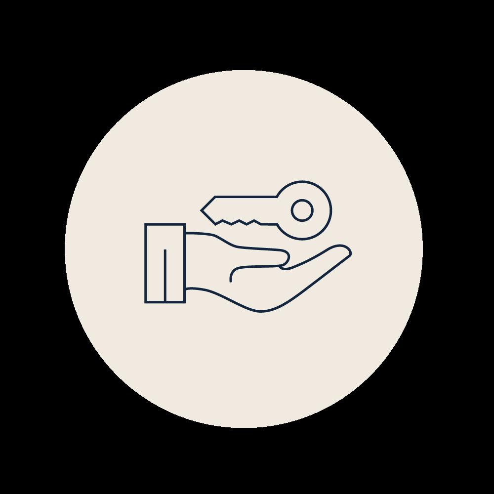 ERB Property transactions ivory icon