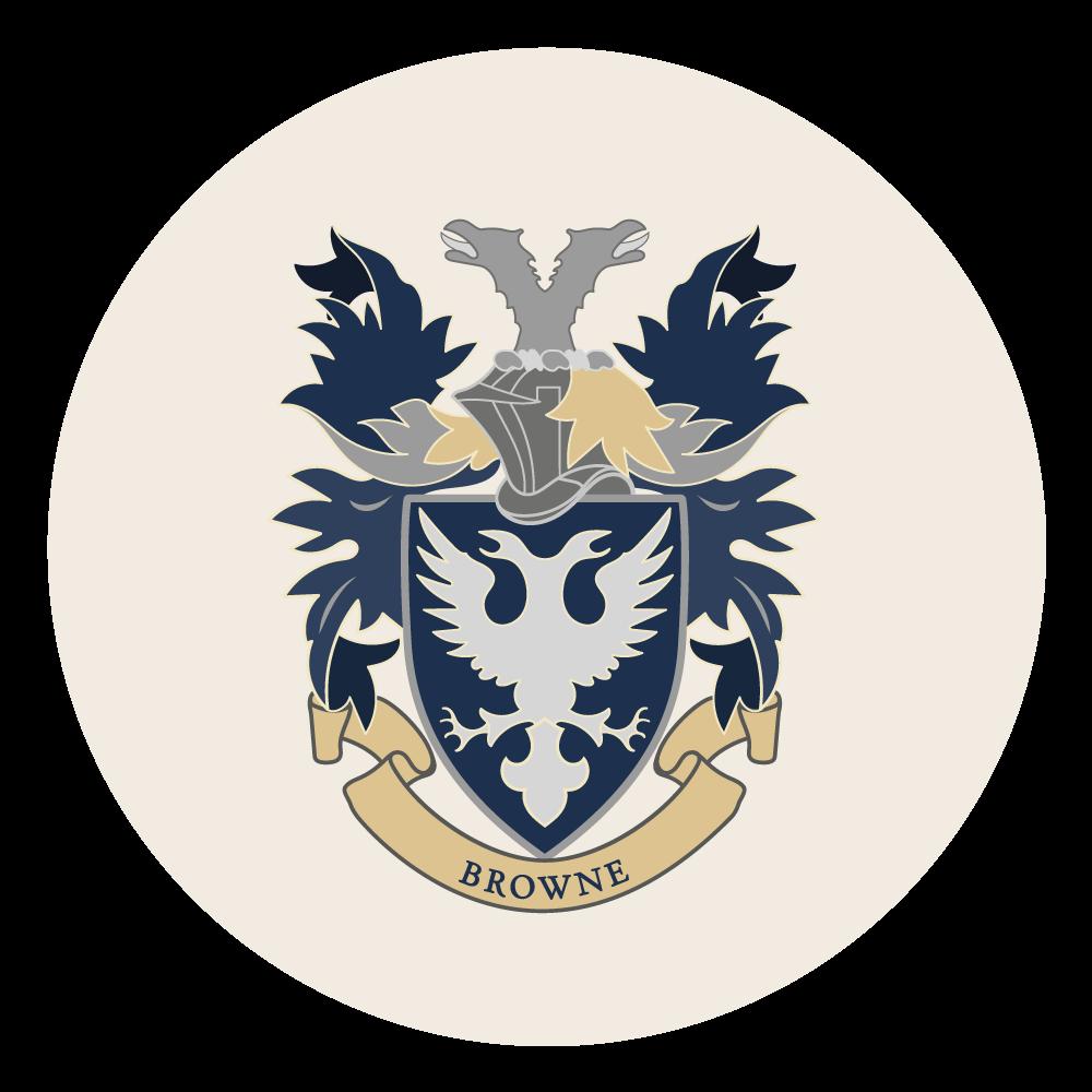 ER Browne incorporated bade logo